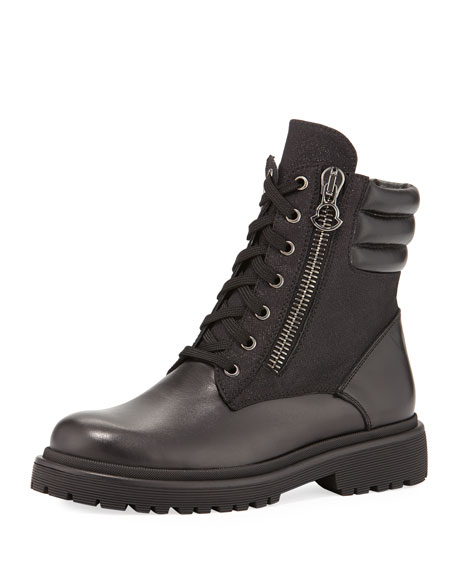 Moncler New Viviane Leather Hiker Boot