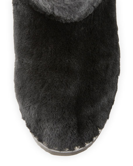 Yumi Studded Shearling Fur Bootie