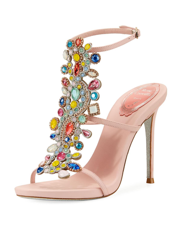 2b1f25bca Rene Caovilla Multi-Embellished 105mm Sandal