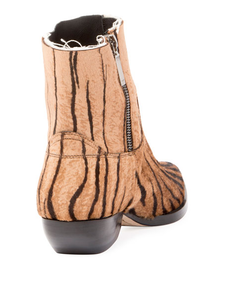 Theo Eli Calf Hair Ankle Boots
