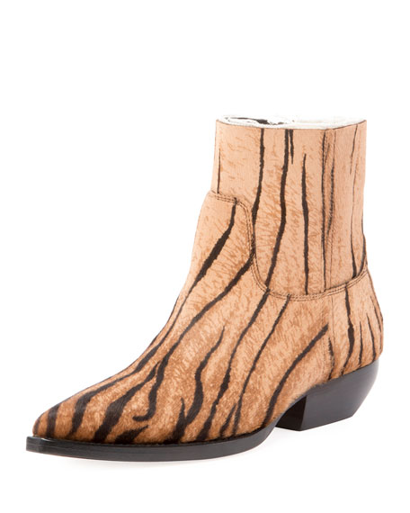 Saint Laurent Theo Eli Calf Hair Ankle Boot