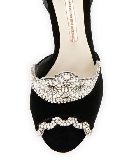 Royalty Velvet Crown Embellished Sandal