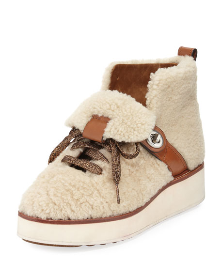 Coach Urban Hiker Shearling Platform Boot