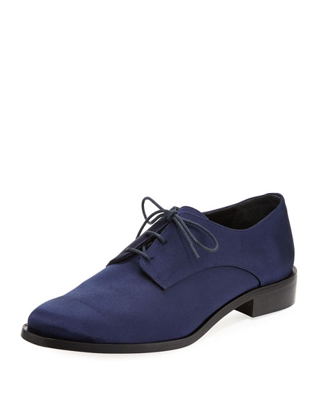 Carter Satin Lace-Up Oxford