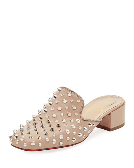 Christian Louboutin Mulaconka Spike Red Sole Mule