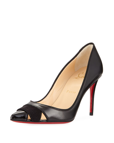 Christian Louboutin Biblio Leather 85mm Red Sole Pump