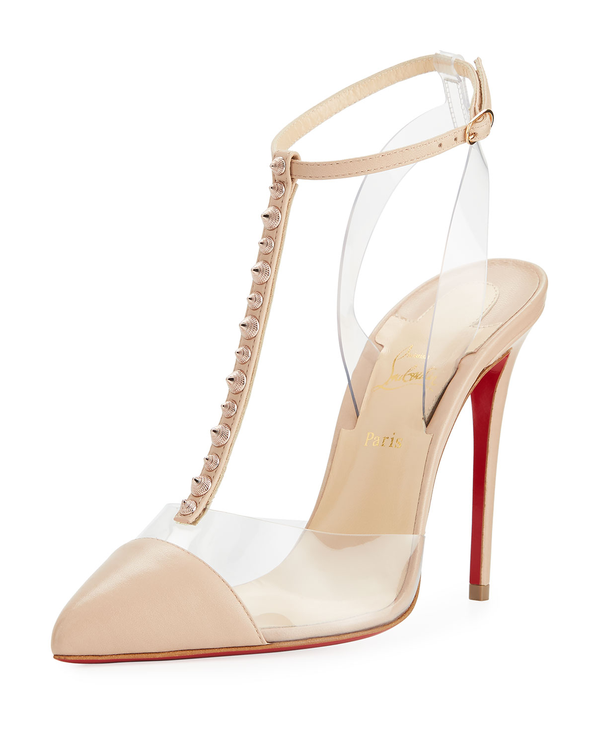 081dab41094a Christian Louboutin Nosy Spikes Illusion Red Sole Pump
