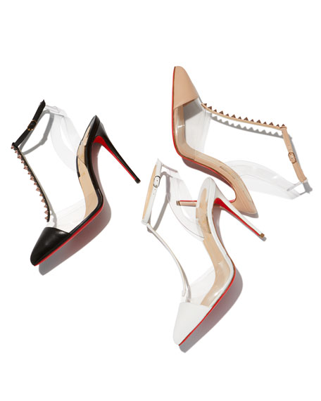 Nosy Spiked T-Strap Red Sole Pump