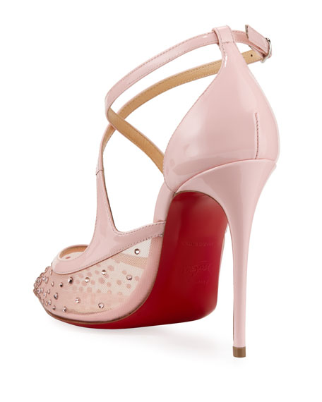 Twistissima Crisscross Red Sole Pumps