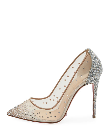 Follies Strass Mixed Red Sole Pumps