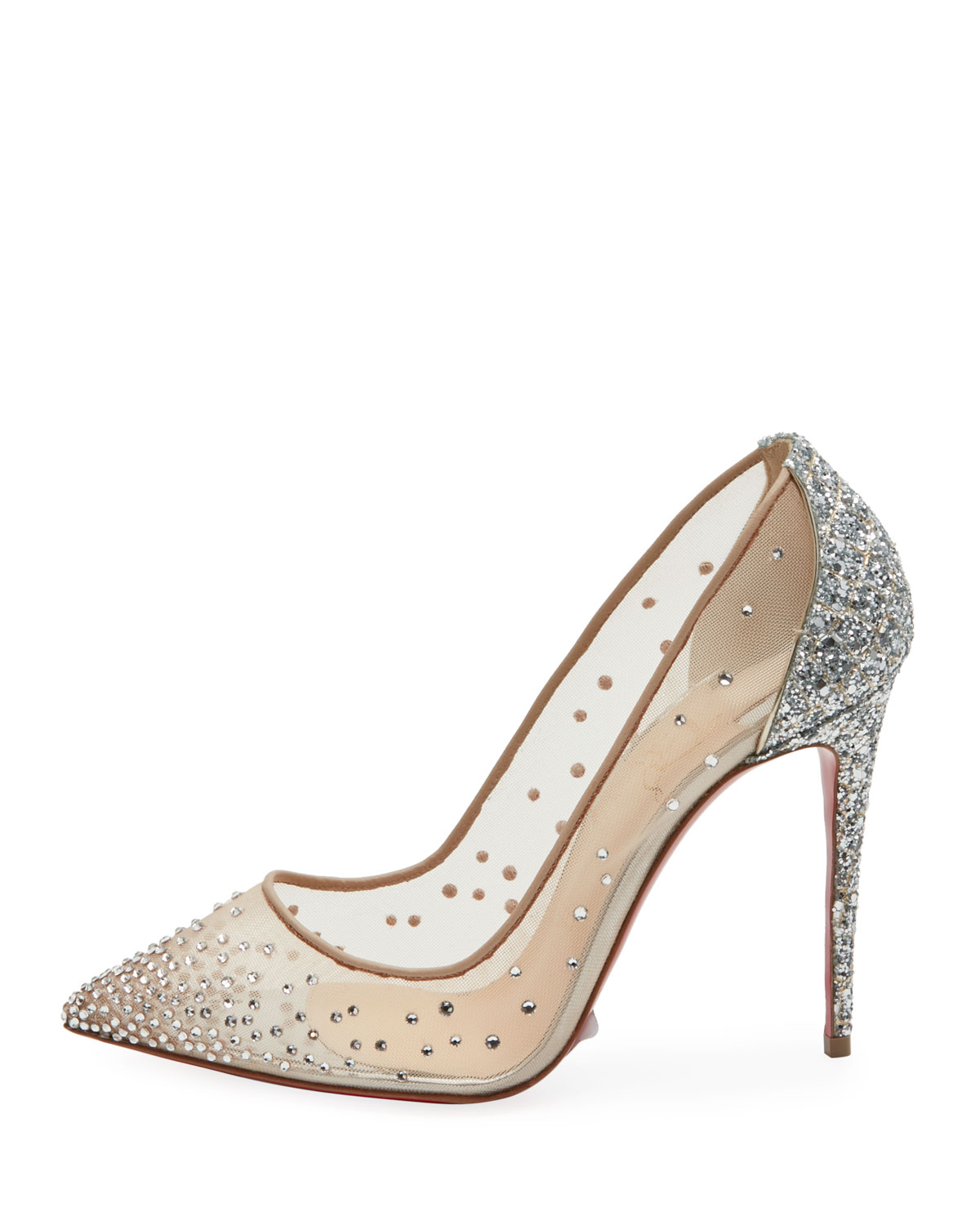 352be27ead Christian Louboutin Follies Strass Mixed Red Sole Pumps | Neiman Marcus