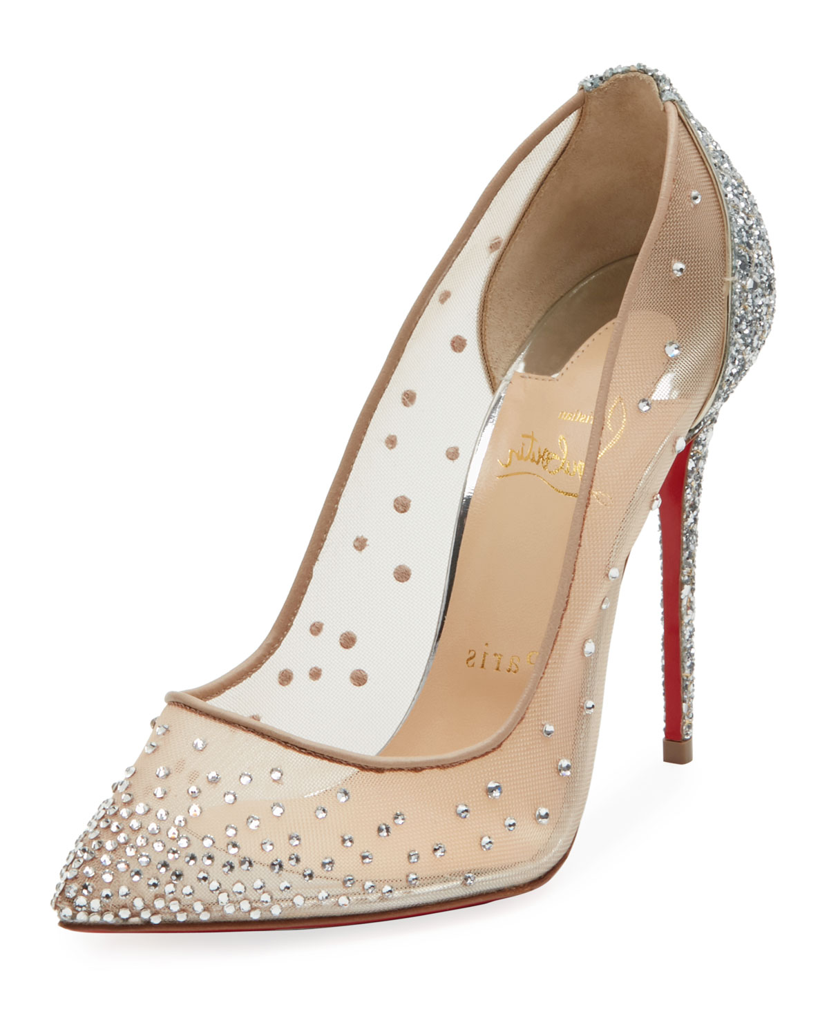 meet f59c3 37537 Follies Strass Mixed Red Sole Pumps