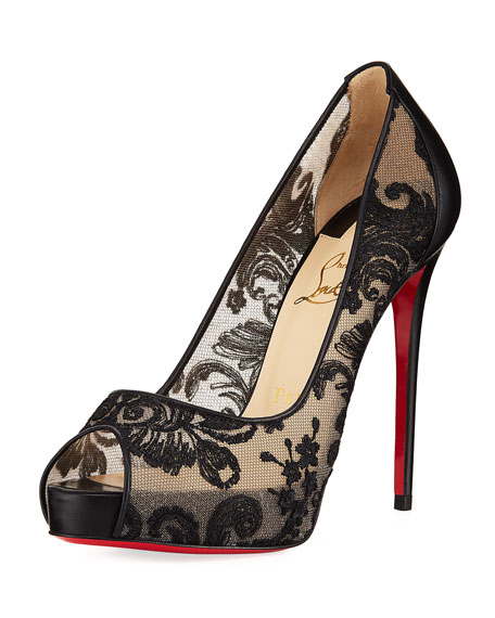 Very Lace Platform Red Sole Pumps