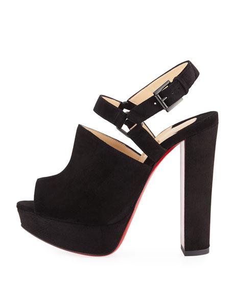 Tamila Suede Platform Red Sole Sandal