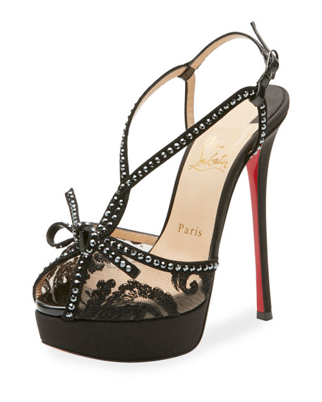 Christian Louboutin Balavenezia Lace Platform Red Sole Pump