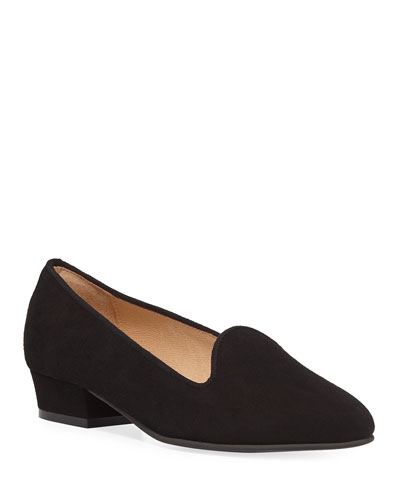 Ariele Chunky-Heel Loafer, Black