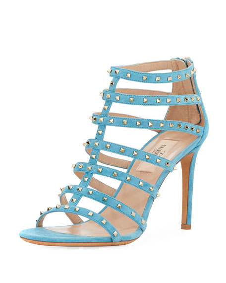 Lovestuds 90mm Caged Suede Sandal