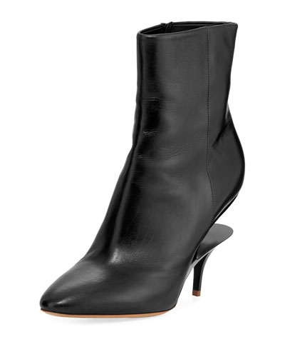 Split-Heel Calf 85mm Bootie