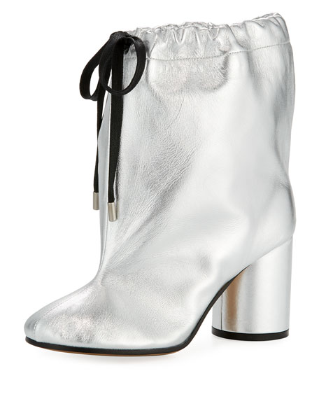 Maison Margiela Metallic Leather Drawstring 85mm Bootie