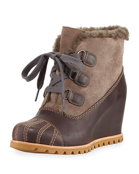 Alasdair Mixed Platform Wedge Boot