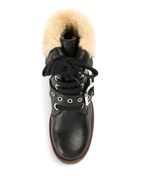 Frye Kay Shearling Lace-Up Boot
