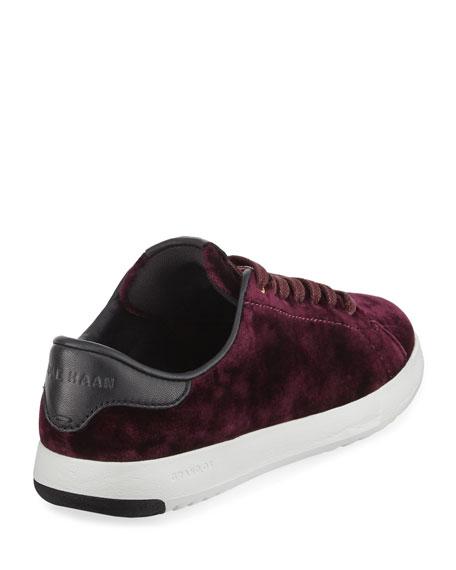 Grand Pro Velvet Tennis Shoe, Wine