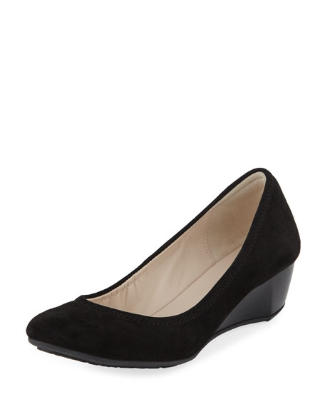 Cole Haan Sadie Grand Suede Wedge Pump, Black