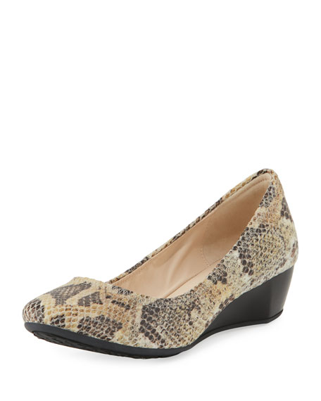 Cole Haan Sadie Grand Printed Wedge Pump, Snake