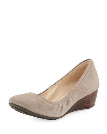 Cole Haan Sadie Grand Suede Wedge Pump, Light