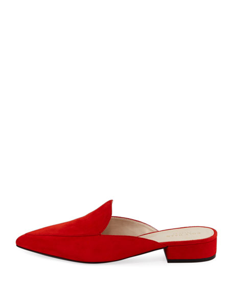Piper Grand Suede Flat Loafer Mule