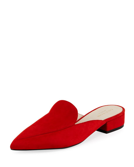Cole Haan Piper Grand Suede Flat Loafer Mule