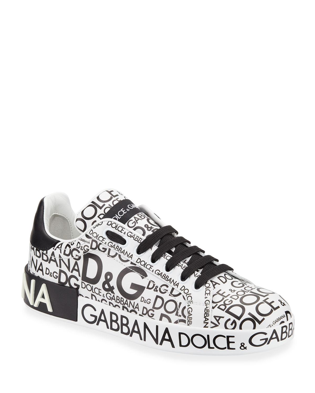 efdbb983b28 Dolce   Gabbana Logo-Print Platform Sneakers