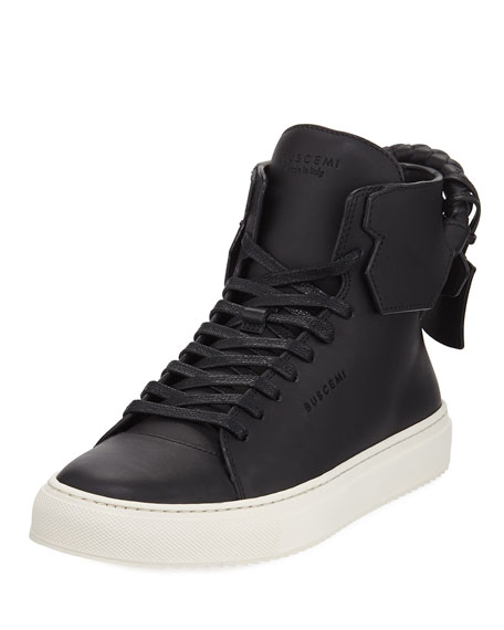 Buscemi 125mm Woven Calf High-Top Sneaker