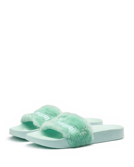 Fenty Puma by Rihanna Faux-Fur Pool Slide Sandal,