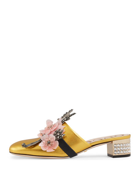 35mm Candy Metallic Leather Mule