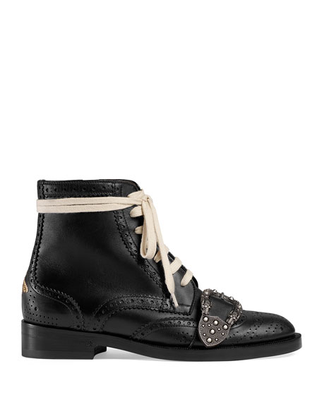 Brogue Lace-Up Boots