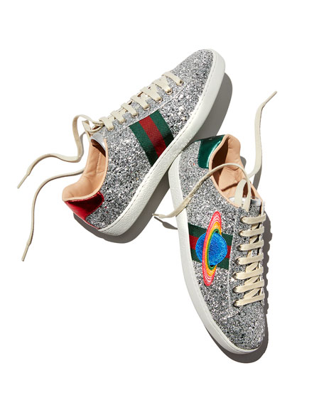Ace Saturn Glitter Low-Top Sneakers