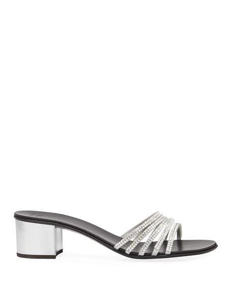 Crystal-Embellished 40mm Slide Sandal