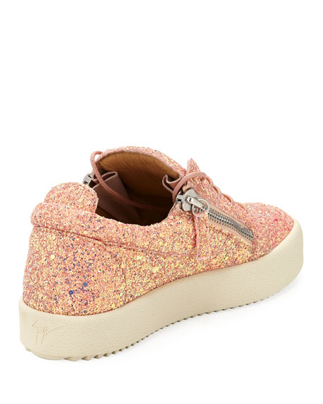 May Coarse Glitter Platform Sneakers