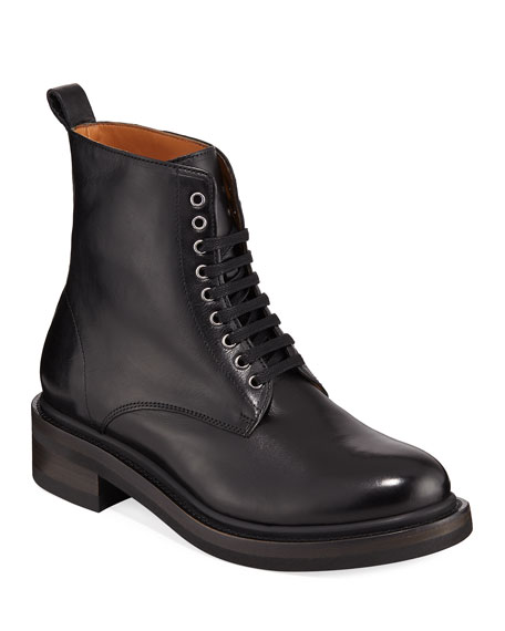 Alice Combat Leather Boots