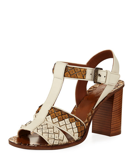 Bottega Veneta High Heel T-Strap Sandal