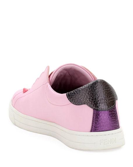 Knit Leather Slip-On Sneaker, Pink