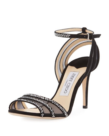 Jimmy Choo Betty Strappy Crystal 85mm Sandal