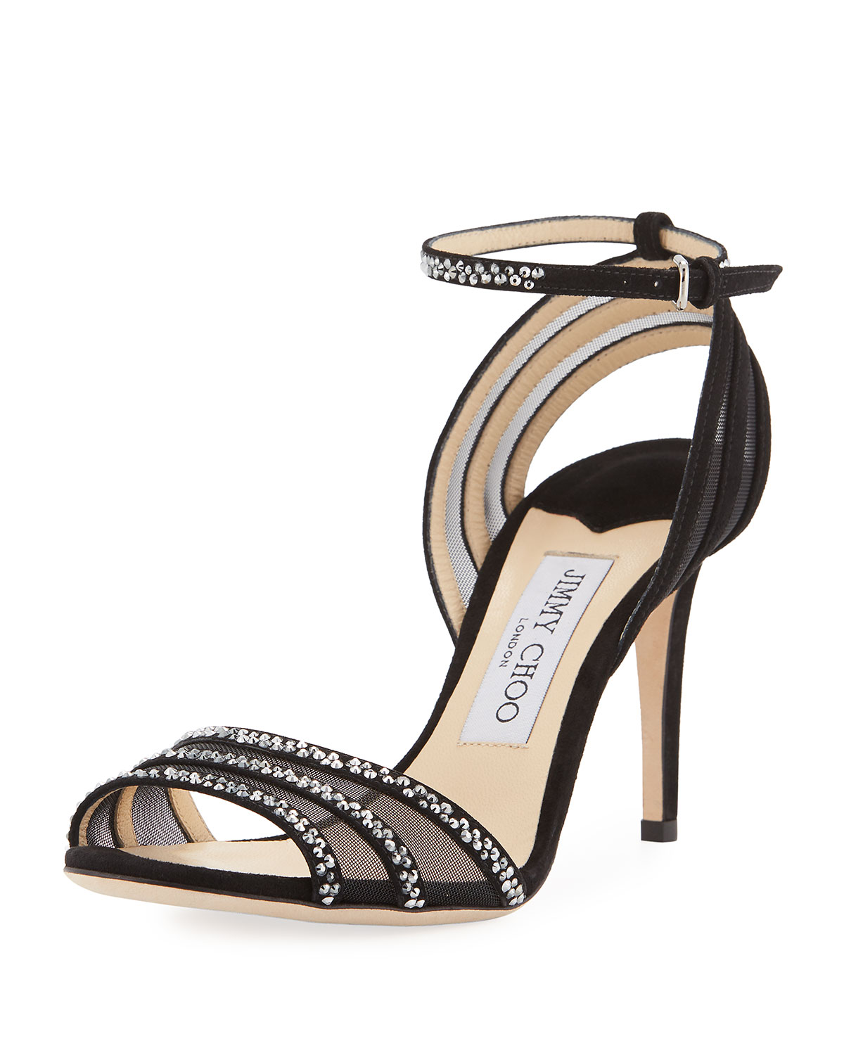d0c619719ba Jimmy Choo Betty Strappy Crystal 85mm Sandal