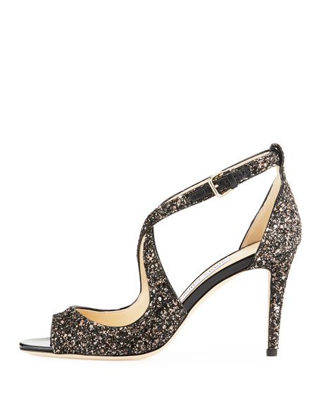 Emily Coarse Glitter Sandal