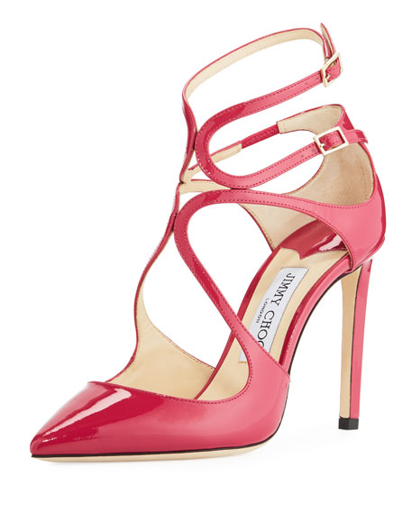 Jimmy Choo Lancer Patent 100mm Pump