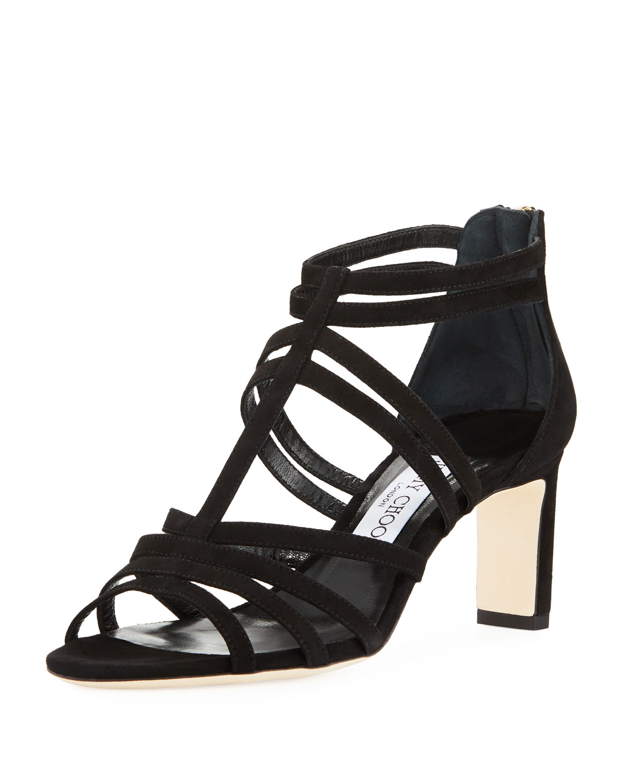 8511d4cee47 Jimmy Choo Selina Suede Strappy 65mm Sandal