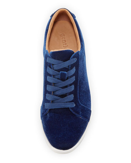 Haddie Velvet Platform Sneaker