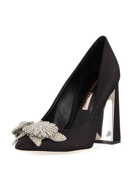 Lilico Crystal-Embellished Pump