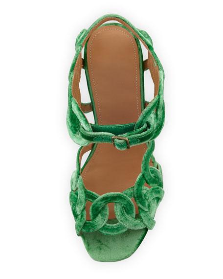 Velvet Rings Resin-Heel Sandal